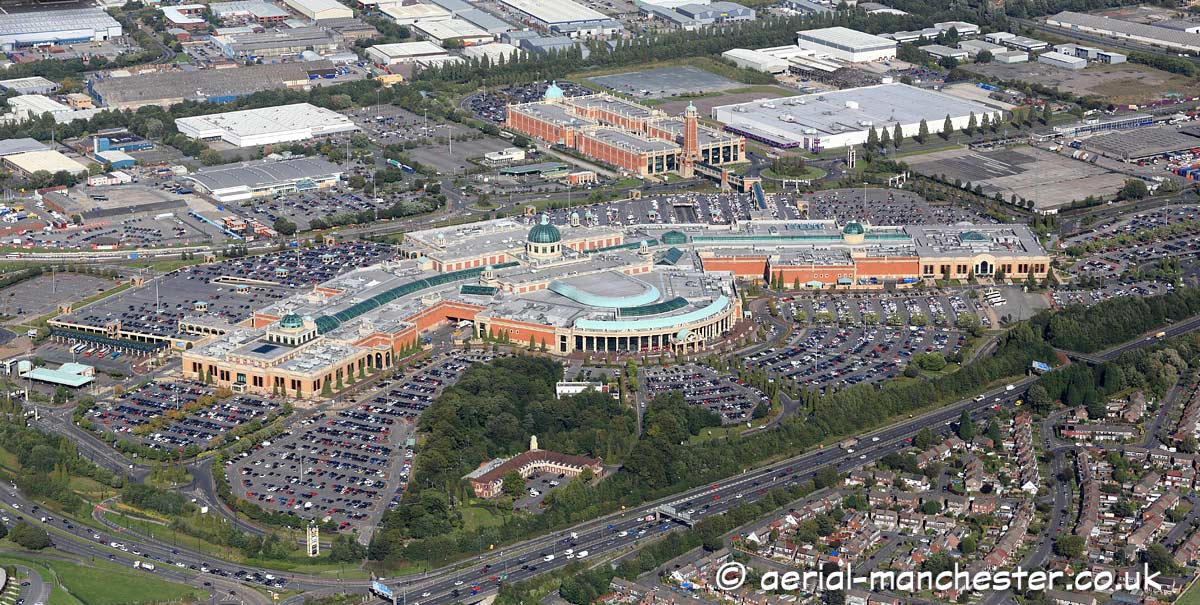 aerial photograph of the Trafford Centre Manchester